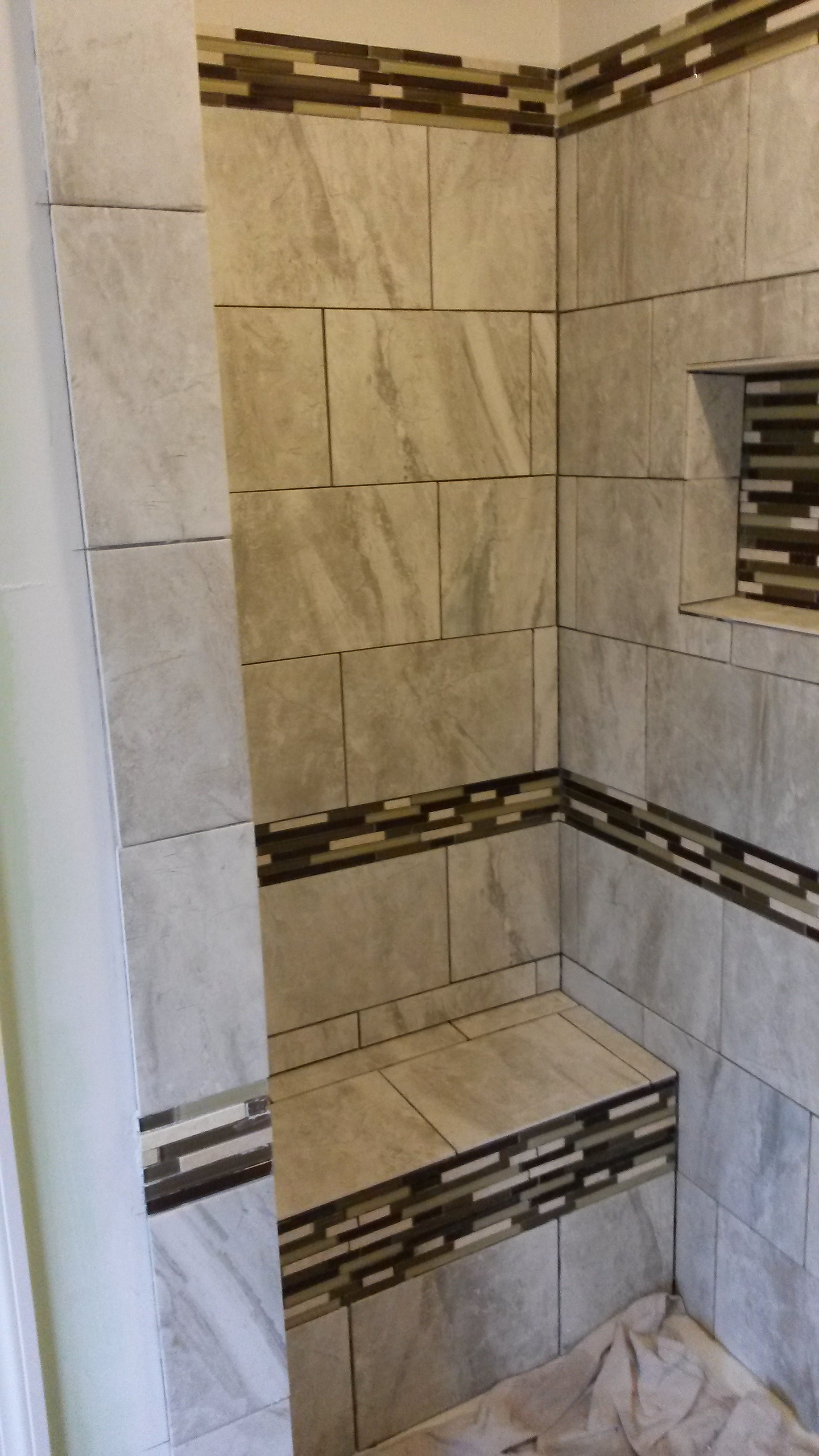 Tile work in bathrooms - Shower Tile